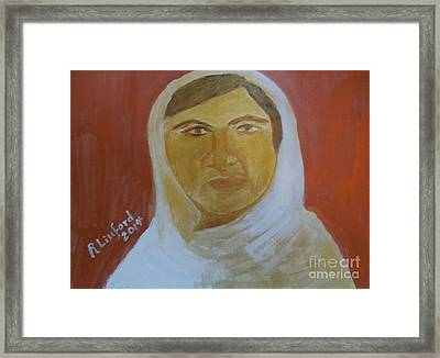 Honoring Malala Yousafzi Shot By Taliban For Championing Equal Rights To Schooling For Girls 1 Framed Print