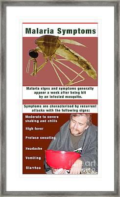Malaria Symptoms Framed Print by Cmsp