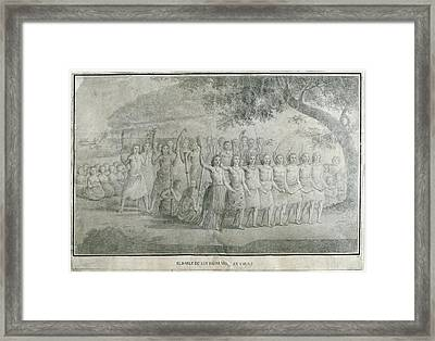 Malaspina Expedition 1789-1794. Tonga Framed Print by Everett