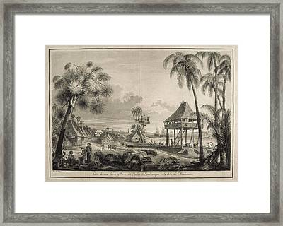 Malaspina Expedition. Philippines 1792 Framed Print