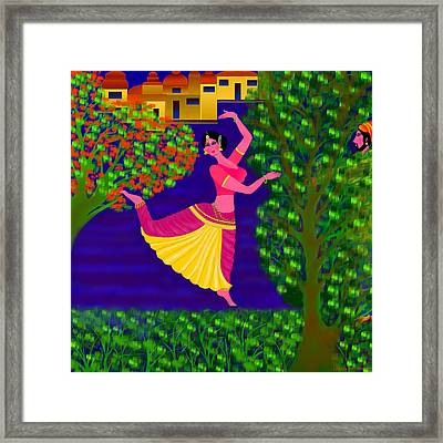 Malavika's Magical Touch Framed Print