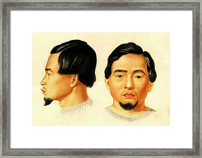 Malay Man Framed Print by Collection Abecasis
