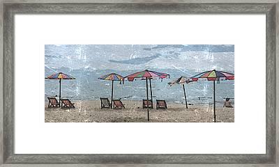 Malazy Day At The Beach Framed Print