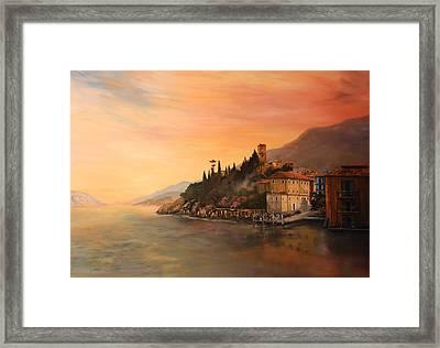 Malcesine Lake Garda Italy Framed Print by Jean Walker