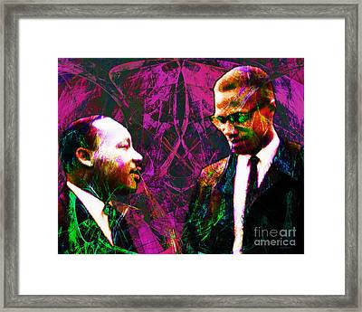 Malcolm And The King 20140205m68 Framed Print by Wingsdomain Art and Photography