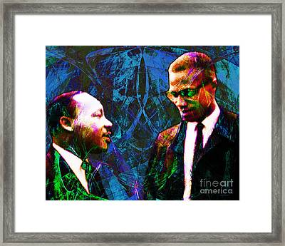 Malcolm And The King 20140205p180 Framed Print by Wingsdomain Art and Photography