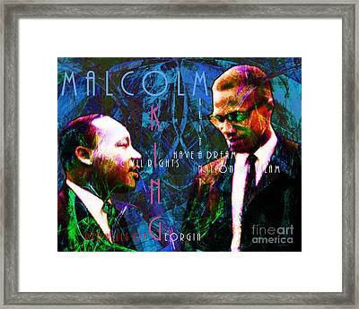 Malcolm And The King 20140205p180 With Text Framed Print by Wingsdomain Art and Photography