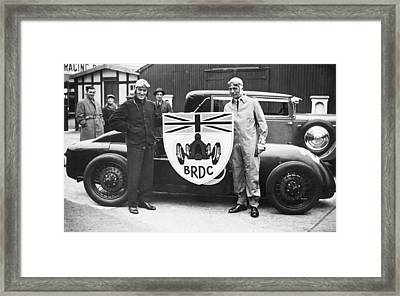 Malcolm Campbell And Earl Howe Framed Print by Underwood Archives
