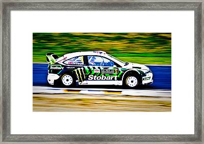 Malcolm Wilson Ford Focus Framed Print by motography aka Phil Clark