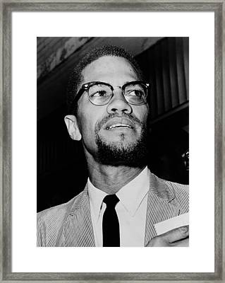 Malcolm X 1963 Framed Print by Mountain Dreams