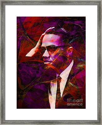 Malcolm X 20140105m28 Framed Print by Wingsdomain Art and Photography