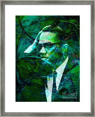 Malcolm X 20140105p138 Framed Print by Wingsdomain Art and Photography