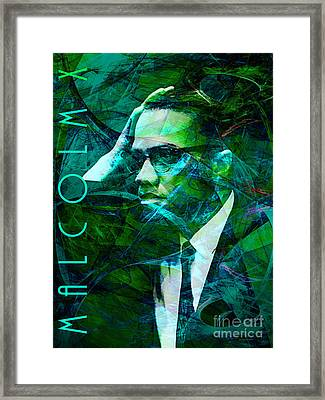 Malcolm X 20140105p138 With Text Framed Print by Wingsdomain Art and Photography