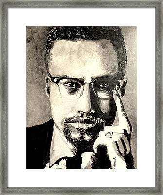 Malcolm X Framed Print by Dareen  Hasan