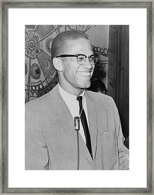 Malcolm X Framed Print by Ed Ford