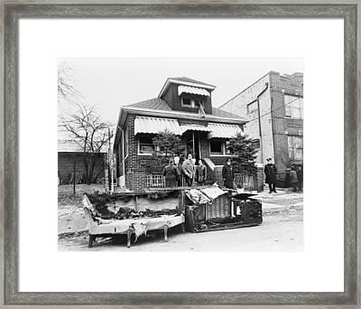 Malcolm X Home, 1965 Framed Print by Granger