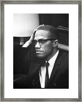 Malcolm X Framed Print by Underwood Archives Marion S Trikosko