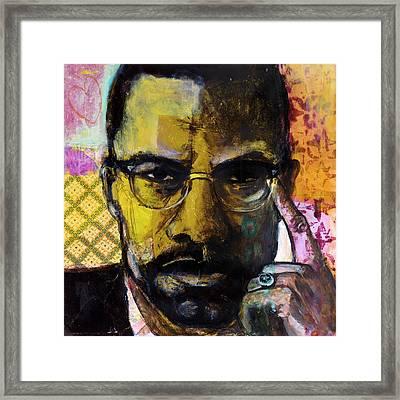 Malcolm X Framed Print by Melinda Jones