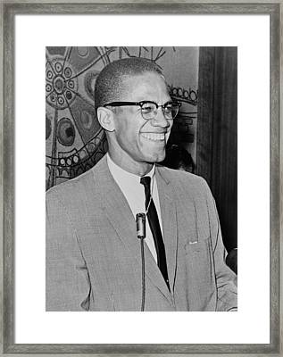 Malcom X Framed Print by Mountain Dreams