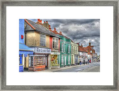 Malden Street Scene Framed Print by Geraldine Alexander