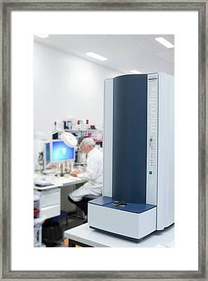 Maldi-biotyper Framed Print by Aberration Films Ltd