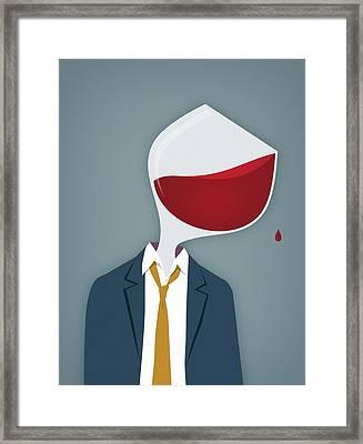 Male Alcoholic Framed Print