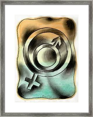 Male And Female Framed Print by Leon Zernitsky