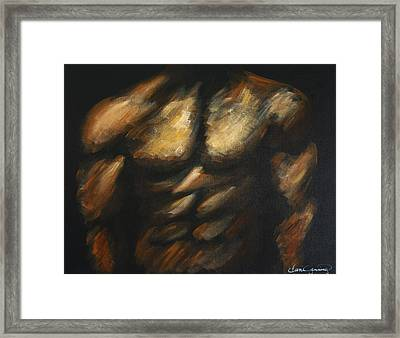 Male Bodybuilder Framed Print by Dani Abbott