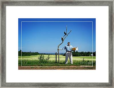 Male Box Man Framed Print by Edward Fielding