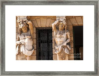 Male Caryatids Framed Print