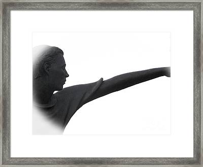 Male Educator Reaching Out Two Framed Print by Tina M Wenger