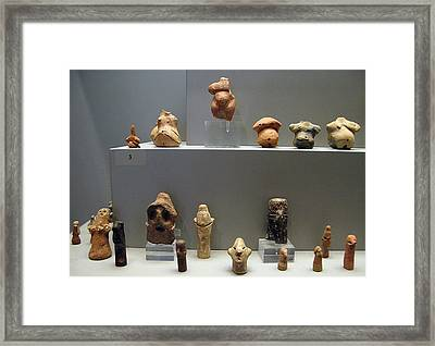 Male Female Figurines Framed Print by Andonis Katanos