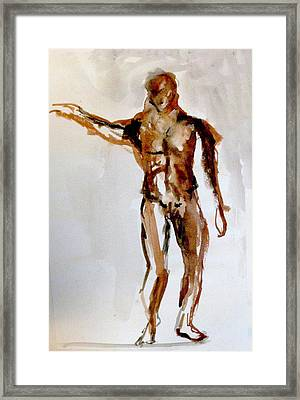 Male Figure Framed Print by James Gallagher