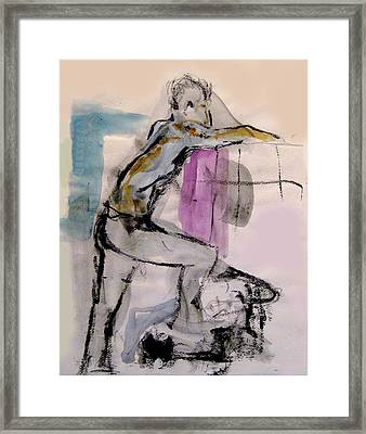 Male Figure Standing Arm Extended Framed Print by James Gallagher