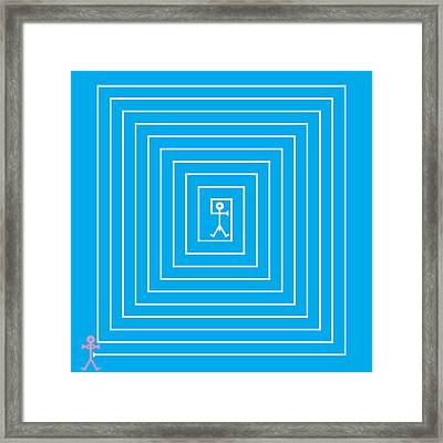 Male Maze Icon Framed Print