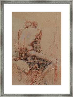 Male Nude 1 Framed Print by Becky Kim