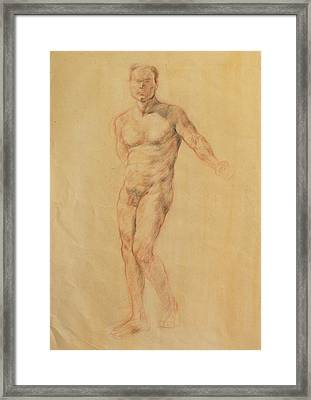 Male Nude 2 Framed Print by Becky Kim