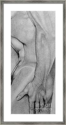 Male Nude 2 Framed Print by Stefano Campitelli