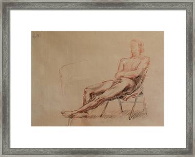 Male Nude 4 Framed Print by Becky Kim