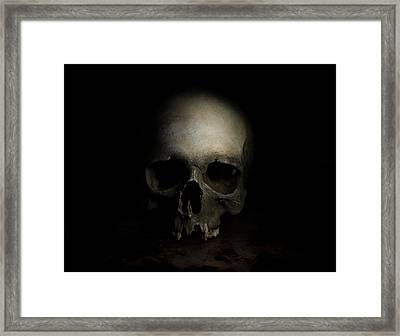 Male Skull Framed Print