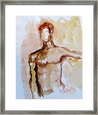 Male Torso Framed Print by James Gallagher