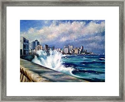 Malecon Havana Framed Print