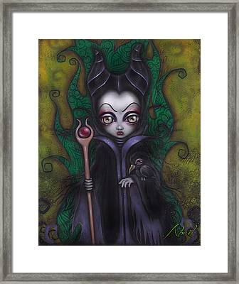 Maleficent  Framed Print by Abril Andrade Griffith