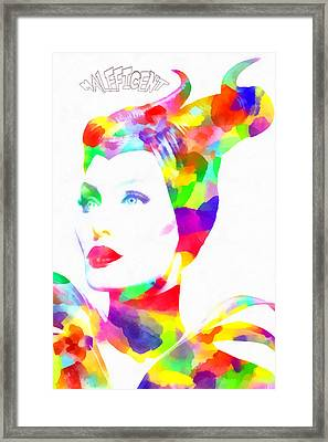 Maleficent Watercolor Framed Print by Eti Reid