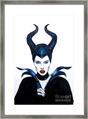 Maleficent Watercolor Framed Print