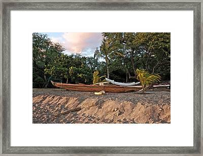 Malia Hawaiian Canoe Framed Print by Dan Sabin