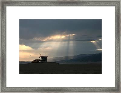 Malibu Beach Framed Print by Art Block Collections