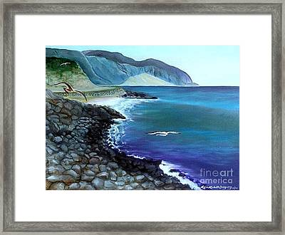 Malibu Beach Framed Print