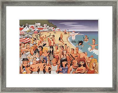 Malibu Beach Framed Print