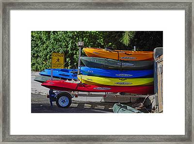 Malibu Kayaks Framed Print by Gandz Photography